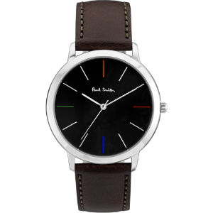 Ma stainless steel and leather watch