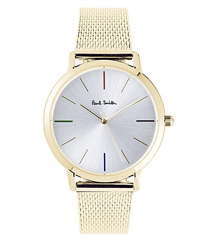 PAUL SMITH P10103 Ma gold-plated stainless steel watch