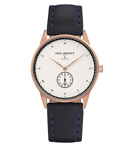 PAUL HEWITT Signature rose-gold plated watch