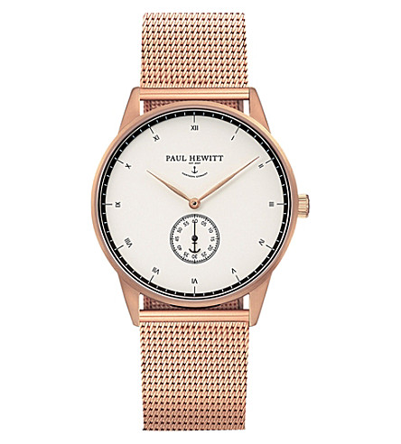 PAUL HEWITT Signature Line rose gold-plated stainless steel watch