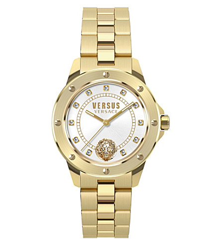 VERSUS S28030017 South Horizons yellow-gold and crystal watch