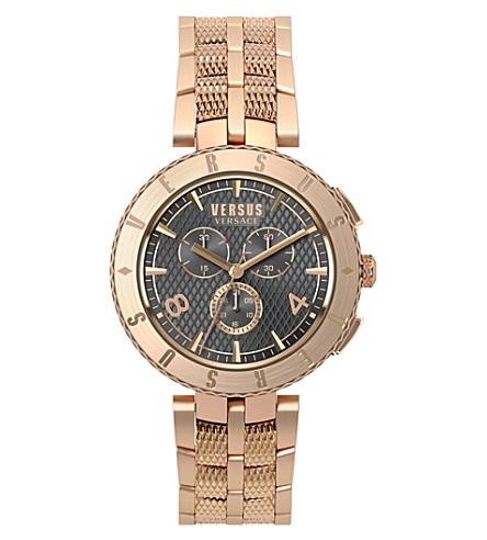 VERSUS S76180017 标志计时玫瑰金手表