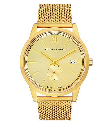 LARSSON & JENNINGS 撒克逊镀金不锈钢腕表