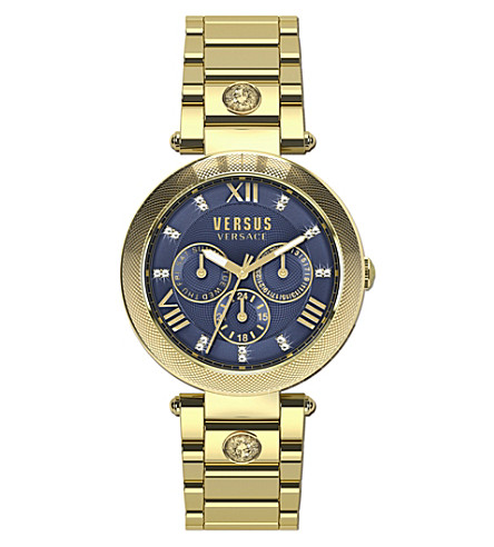 VERSUS SCA040016 V-Camden IP gold chronograph watch