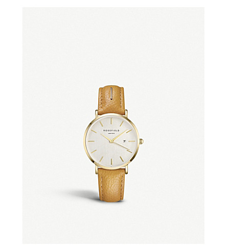 ROSEFIELD SIAD-I83 The September Issue gold-plated stainless steel and leather watch