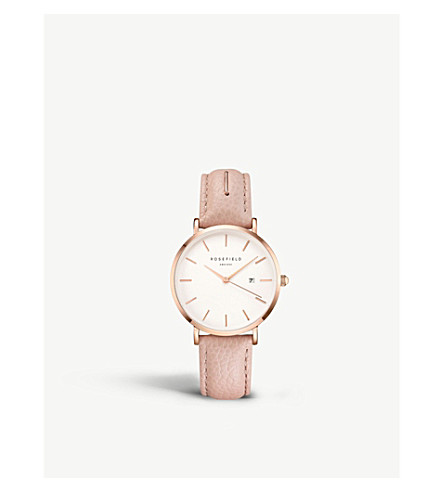 ROSEFIELD SIBD-I81 The September Issue rose gold-plated stainless steel and leather watch