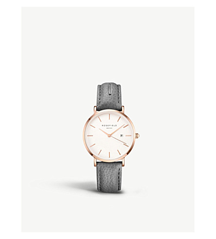 ROSEFIELD SIGD-I82 The September Issue rose gold-plated stainless steel and leather watch