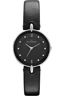 SKAGEN SKW2011 leather strap watch