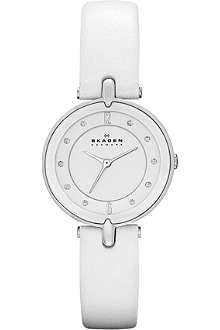 SKAGEN SKW2012 leather strap watch