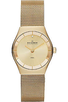 SKAGEN SKW2045 gold-plated stainless steel watch