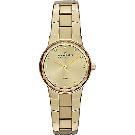 SKAGEN SKW2073 gold-toned stainless steel watch (Gold
