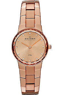 SKAGEN SKW2074 rose gold-toned stainless steel watch