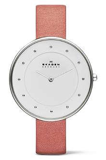 SKAGEN SKW2135 two-hand leather watch