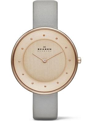 SKAGEN SKW2139 two-hand leather watch