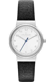 SKAGEN SKW2188 Ancher stainless steel and leather watch