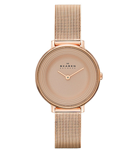 SKAGEN SKW2213 Ditte rose gold-toned stainless steel watch (Rose gold