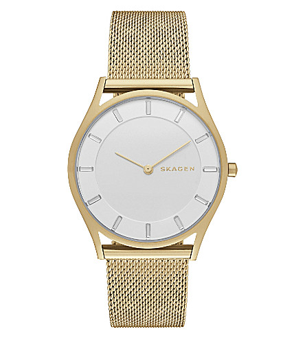 SKAGEN Skw2377 Holst gold-toned stainless steel watch (White