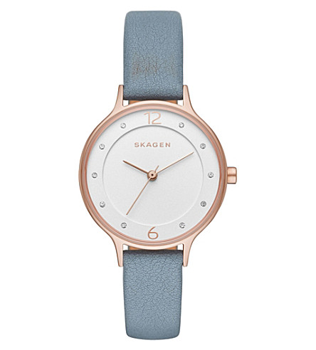 SKAGEN SKW2497 rose-gold plated stainless steel watch