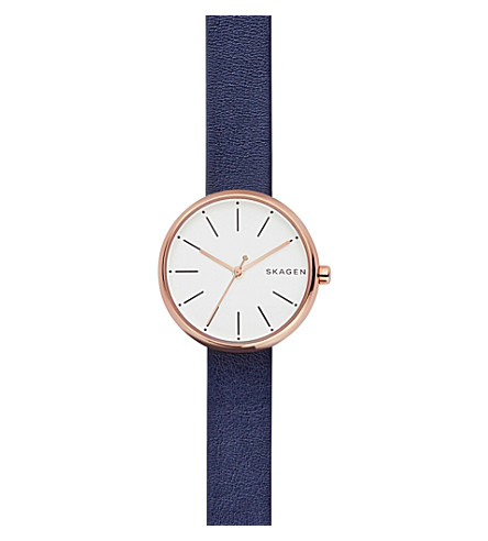 SKAGEN SKW2592 Signatur stainless steel and leather watch