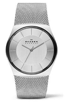 SKAGEN SKW6067 three-hand steel mesh watch
