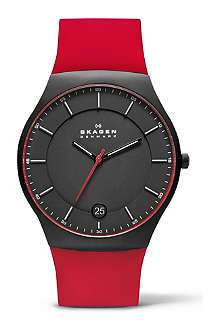 SKAGEN SKW6073 three-hand silicone titanium watch