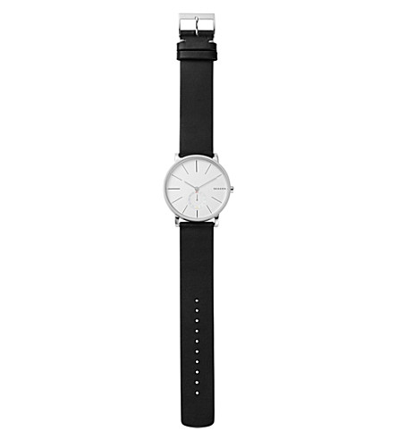 SKAGEN SKW6274 Hagen stainless steel and leather watch
