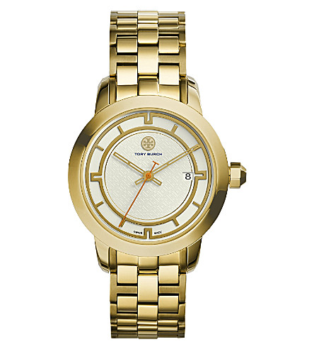 TORY BURCH TRB1003 gold-tone ivory watch (Ivory