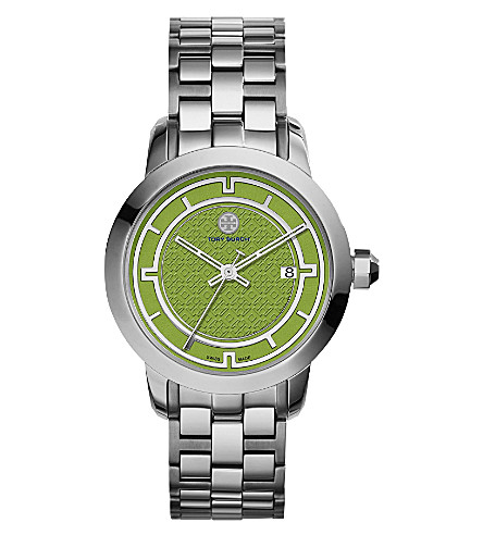 TORY BURCH TRB1007 stainless steel/green watch (Green