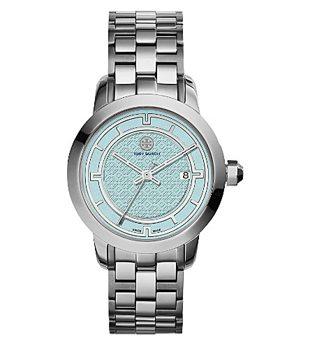 TORY BURCH TRB1008 stainless steel/blue watch (Light+blue