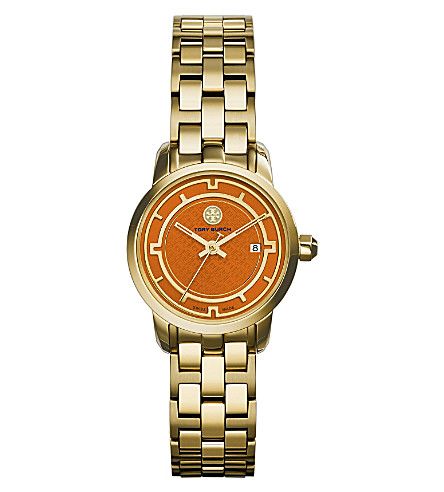 TORY BURCH The Tory gold-toned stainless steel watch (Orange