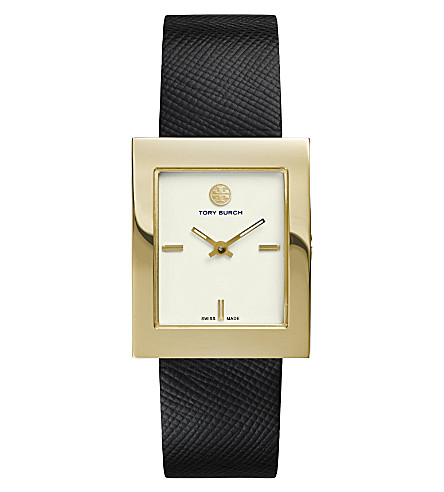 TORY BURCH The Buddy Classic gold-toned stainless steel watch (Ivory
