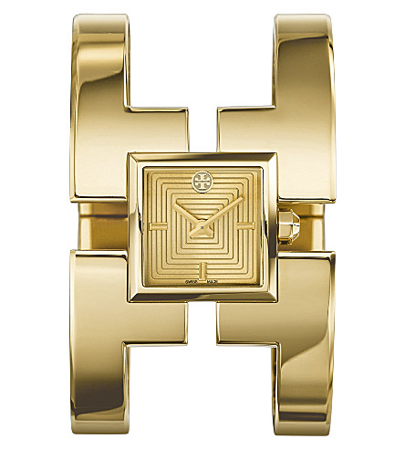 TORY BURCH The Sawyer gold-toned stainless steel watch (Gold