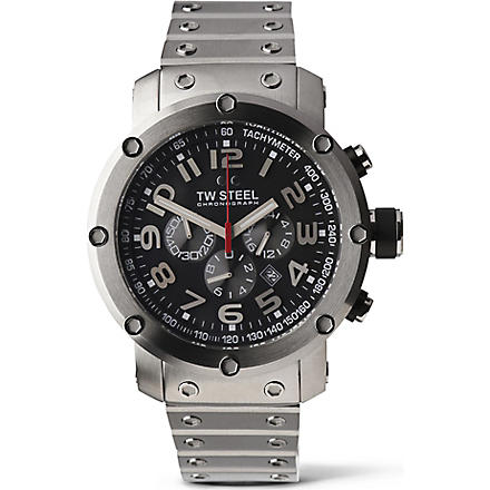 TW STEEL TW127 Grandeur Tech chronograph watch (Black