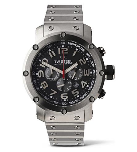 TW STEEL TW127 Grandeur Tech chronograph watch (Black