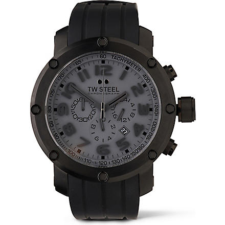 TW STEEL TW129 Grandeur Tech black chronograph watch (Black