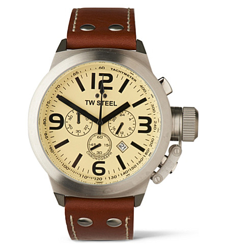 TW STEEL Canteen TW5 chronograph watch (Cream