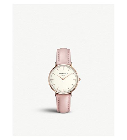 ROSEFIELD TWPR-T58 Tribeca rose-gold and leather watch