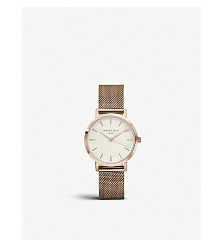 ROSEFIELD TWR-T50 Tribeca rose gold-plated mesh watch