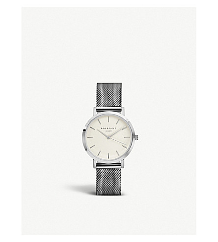 ROSEFIELD TWS-T52 Tribeca stainless steel mesh watch