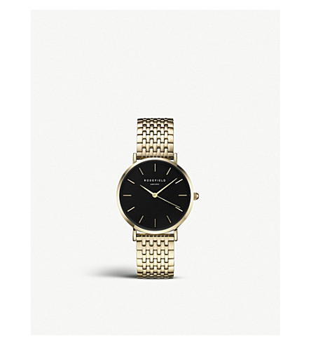 ROSEFIELD UEBG-U24 Upper East Side gold-plated link watch