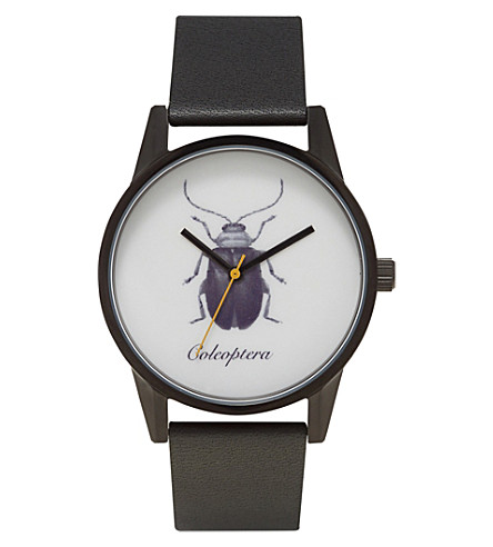UNKNOWN Natural Science Coleoptera alloy and leather UN14NS09 watch