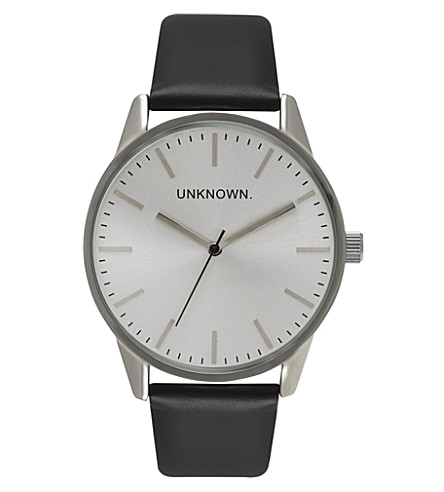 UNKNOWN UN14TC06 The Classic stainless steel and leather watch (Silver