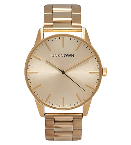 UNKNOWN Classic gold-toned stainless steel UN15TC15 watch
