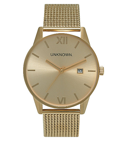 UNKNOWN Un15da09 The Dandy gold-toned stainless steel watch (Gold