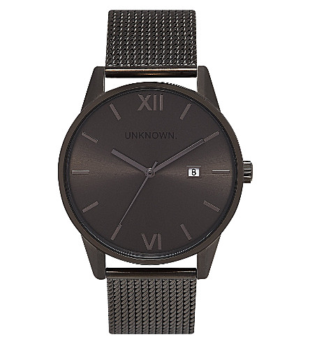 UNKNOWN Un15da11 The Dandy gunmetal stainless steel watch (Gunmetal