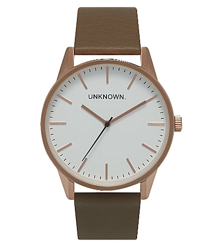 UNKNOWN Un15tc18 The Classic rose gold-toned stainless steel watch (White