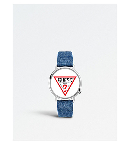 GUESS V1001M1 Originals denim and stainless steel watch