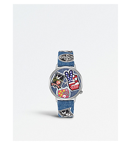 GUESS V1004M1 printed silicone watch