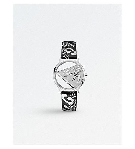 GUESS V1009M1 Originals stainless steel and leather watch