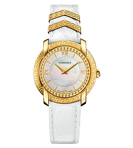 VERSACE Vam010016 dv25 stainless steel and mother-of-pearl watch